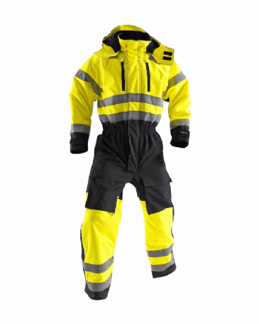 Blaklader 6763 Winter Overall High Visibility (Yellow/Navy Blue)